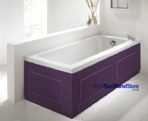 Shaker Style Aubergine (Purple) 2 Piece adjustable Bath Panels